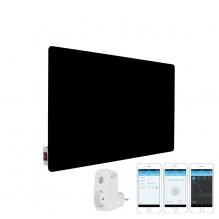 КОМПЛЕКТ Инфрачервен отоплителен панел Sun Way SWG 450, Стъклен, Черен + Смарт Wi-Fi Контакт Broadlink Contros SP3S